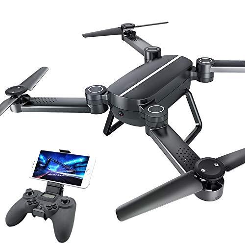 QAIYXM WiFi Mini-Drohne, faltbar Fernbedienung Quadcopter mit 6-Achsen-720P HD Kamera, RTF Echtzeit-Video, Höhe Keeping, Headless Modus, EIN Built Return