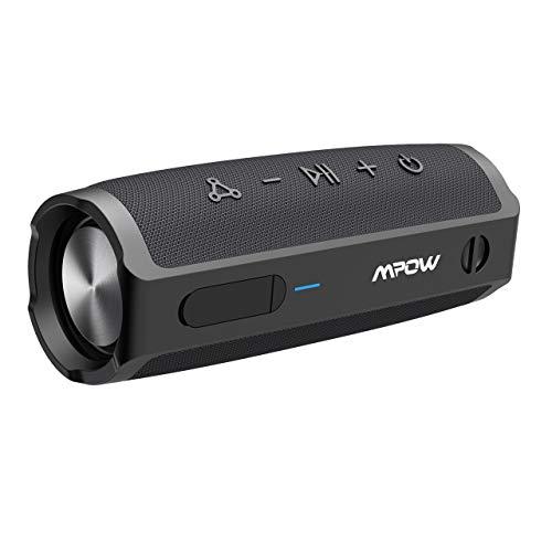 Mpow Bluetooth Lautsprecher, 16W Musikbox mit 360° Starker Bass und PartyCast Modus, IPX7 Bluetooth Lautsprecher Boxen, 10 Std Spielzeit, Tragbarer Bluetooth Speaker für Party/Urlaub/Outdoor