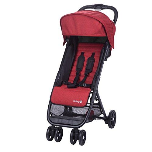 Safety 1st Buggy Teeny, ultrakompakt zusammenklappbarer Kinderwagen inkl. passender Tragetasche, ideal für die Reise oder die Stadt, nutzbar ab ca. 6 Monate bis ca. 3 Jahre, Red Chic