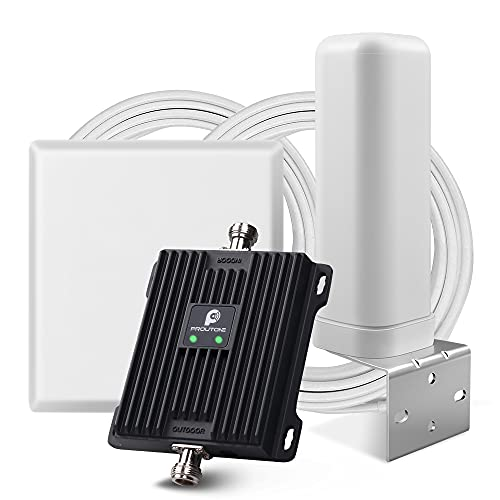 Proutone Amplificador de señal Celular LTE 4G 3G gsm Datos 2G Llamadas para casa Rural Oficina Banda 20 Banda 8 Movistar Naranja Vodafone Yoigo 800MHz 900MHz Amplificador de Cobertura móvil