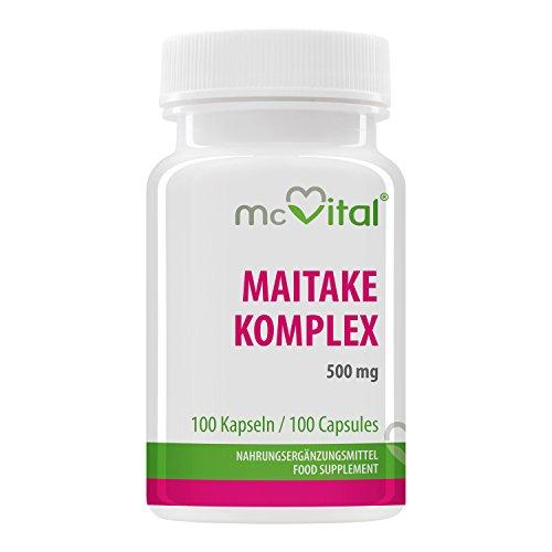Maitake Komplex 500 mg - Abwehrkräfte - Mehr Stress Resistenz - Verhilft zu Idealgewicht - 100 Kapseln