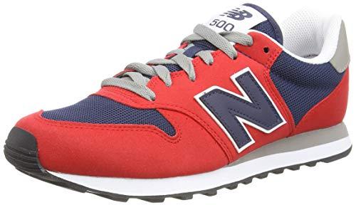 New Balance Herren 500 Varsity Pack Sneaker, Rot (Team Red), 42.5 EU