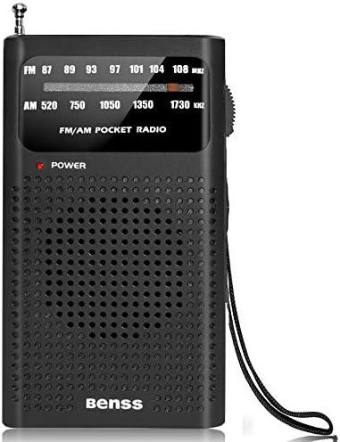 Portable Radio Pocket AM FM Transistor Radio Battery Operated Radio with Loud Speaker Earphone product image