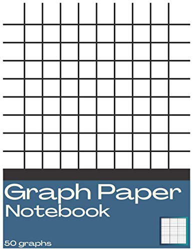 Graph Paper Notebook: 8.5 x 11 inches. High precision, 10 lines per cm. 50 Graphs. 100 Pages.