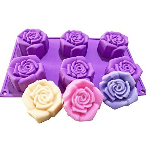 Moule en silicone en forme de fleur de rose pour gâteau, savon