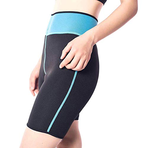 Yalatan Sudor Mujeres Deportes auxiliares Sudoración Corsé de Goma Pantalones Cortos de Yoga Control Adelgazante Moldeadores de Muslos
