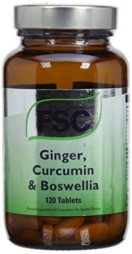 FSC Ginger Curcumin & Boswellia 120tabs (PACK OF 1)