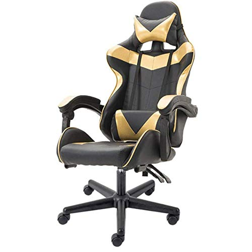 SXFYWYM E-Sports stoel Internet Cafe LOL Game stoel Racing stoel bureaustoel Computer stoel Reclining roterende bureaustoel voor comfort