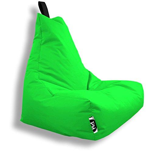 Patchhome Gamer Kissen Lounge Kissen Sitzsack Sessel Sitzkissen In & Outdoor geeignet fertig befüllt | Kiwi - XL - in 2 Größen und 25 Farben