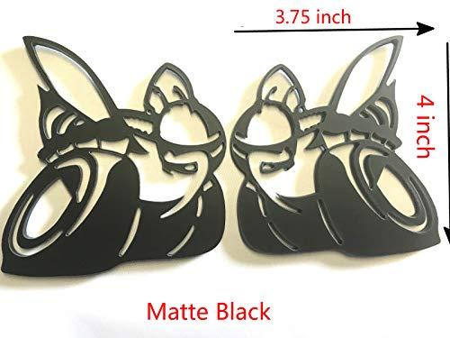 Taroal D-S2MB Pair 2 Challenger Charger Scat Pack SuperBee SRT Fender Trunk Emblems Badge Glossy Black For Dodge (Matte Black)