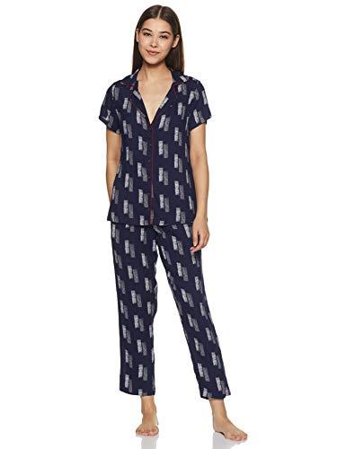 Indigo Women's Rayon Regular Fit Night Suit (SS20-IND1206_Blue_XL)