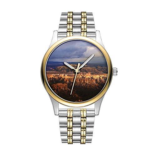 Personalisierte Minimalistische Bryce Canyon Nationalpark Uhren Goldene Fashion wasserdichte Sportuhr