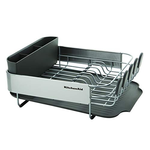 KitchenAid Stainless Steel Wrap Compact Dish Rack, One size, Gray