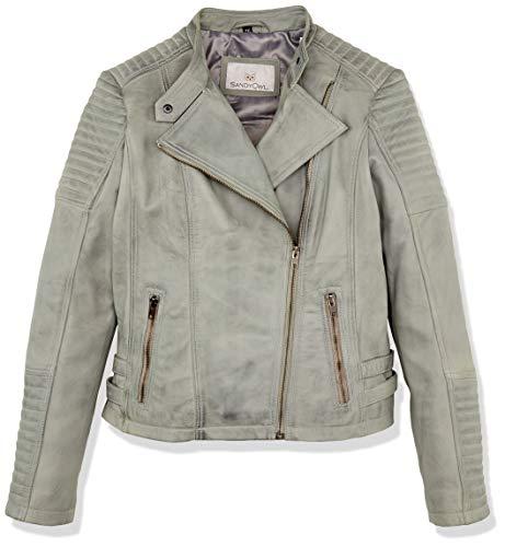 Urban Leather Fashion Lederjacke - Sylvia, Hellgrau, 2XL