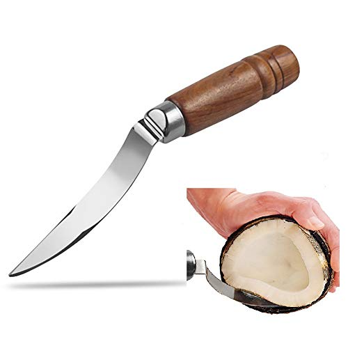 Coconut Opener Tool Set for Young & Mature Coconuts with Hammer Stainless Steel Knife – Coconut...
