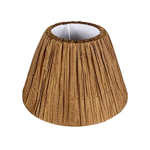 HJUYV-ERT Lampshade, Fabric Can Be Washed, Disassembled and Replaced for Table Lamp Floor Lamp Lampshade, Red, White,Brown