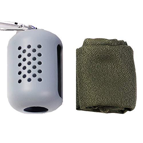 Creativo al aire libre de viaje portátil toalla de secado rápido microfibra deportes toalla fría toalla de hielo toalla combinación