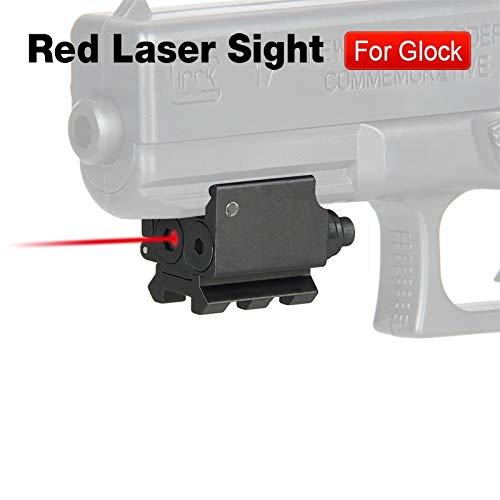 ACEXIER Mini verstellbares kompaktes Red Dot Laservisier mit Abnehmbarer Picatinny 20mm Schiene für Pistole Luftgewehr Gewehrjagd Zubehör