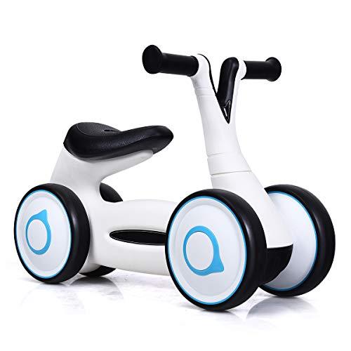 COSTWAY Laufrad, Balance Fahrrad, Balance Bike, Kinderlaufrad, Lauflernrad für Jungen und Mädchen, Kinder Fahrrad, Lernlaufrad ohne Pedal für Kinder von 1-3 Jahre (Weiß)