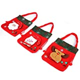 Yeelur Decoración del hogar Bolsa de Regalo Decoración, Bolsas navideñas con cordón, Bolsas navideñas con cordón Decoraciones Encantadoras de Nochebuena para el día de Navidad
