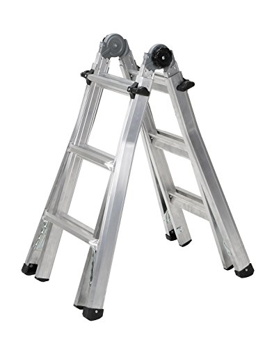 Cosco 14 ft. Reach Aluminum Telescoping Multi-Position Ladder with 300 lb. Load Capacity Type IA Duty Rating