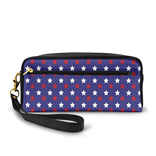 Pencil Case Pen Bag Pouch Stationary,United States of America Theme Federal Holiday Celebration Revolution Design,Small Makeup Bag Coin Purse