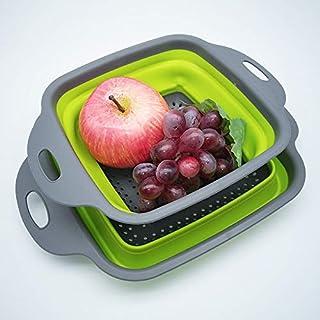4 Pcs Foldable Food Strainer, Drain Basket, Storage Basket, Collapsible Basket, Silicone Basket, Filter Basket, BPA Free F...