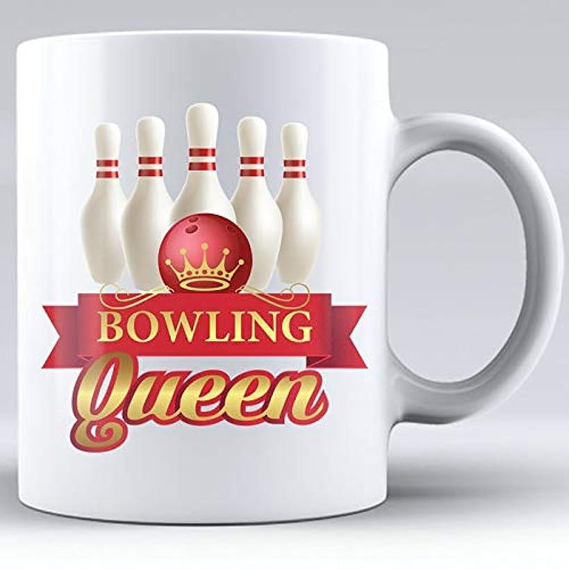 Bowling Queen, Queen of Bowling, Bowling Pin Mug, Ceramic white Mug, Bowling, Bowling Super Fan, Bowling Crown, Gift for Bowler