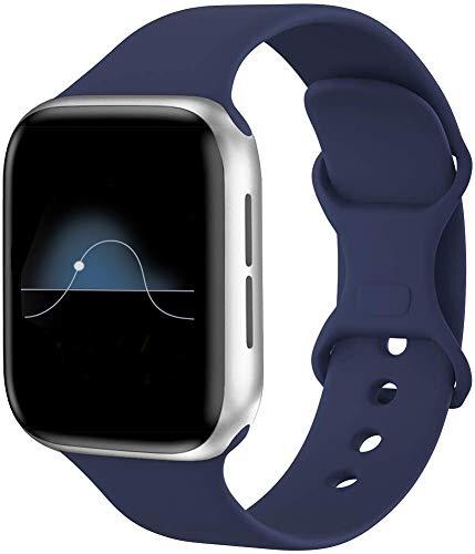 Hviosum Correas Compatible para Apple Watch 44mm 42mm 40mm 38mm, Bandas de Reloj de Repuesto de Silicona Suave para iWatch Series 5/4/3/2/1