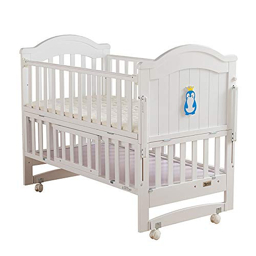 Travel Cot, Can Move Baby Cot Multifunction Baby Crib, Extendable Three Gears Adjustable Can Be Spliced Big Bed Safety Environmental Protection Durable High Capacity Storage Space