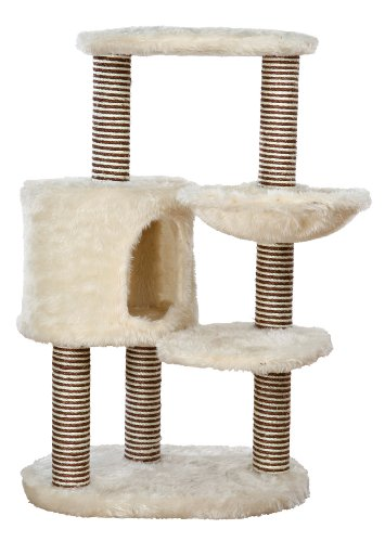 Price comparison product image TRIXIE Pet Products Moriles Cat Tree House,  Cream