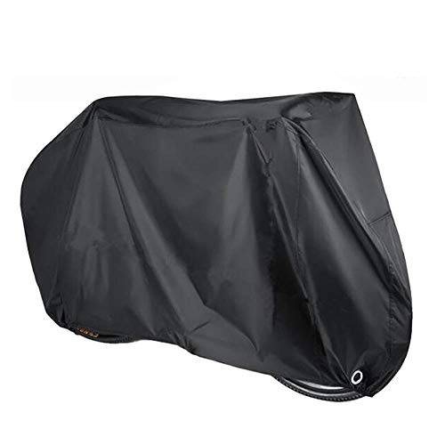 Funda para bicicleta para almacenamiento exterior, 190T de tela para bicicleta con dos agujeros de bloqueo para 1 o 2 bicicletas, impermeable