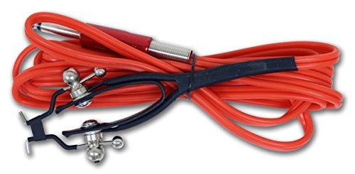 Clip Cord Snake King III 2,5 m Avec jack – Rouge Clip Cord Sticker pour machines Câble en silicone