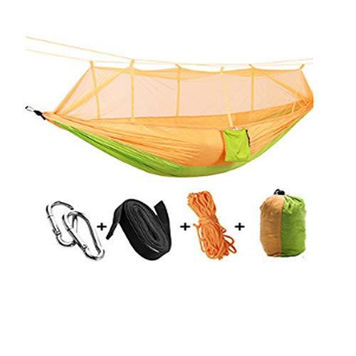 LAL6 Hamac Tente hamac moustiquaire Portable extérieur pour 1-2 Personnes Camping Tente de Maille aérienne,Yellow-Green