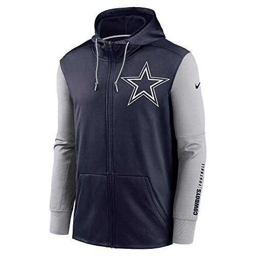 Dallas Cowboys Nike - Sudadera térmica con Capucha para Hombre, Hombre, 200810012, Azul Marino/Gris, S