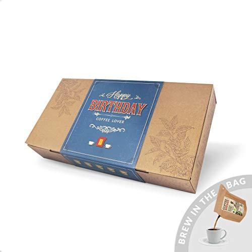 Kaffee Geschenk-Set, Coffeebrewer 10er-Sortiment | 5x2 verschiedenen Kaffeesorten aus aller Welt | Das perfekte Kaffee geschenk für den Kaffeeliebhaber (Happy Birthday)