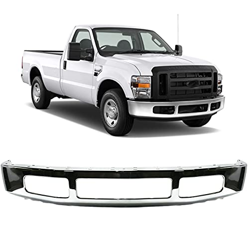 Steel Chrome Front Bumper Face Bar for 2008 2009 2010 Ford F-250 F-350 Super...