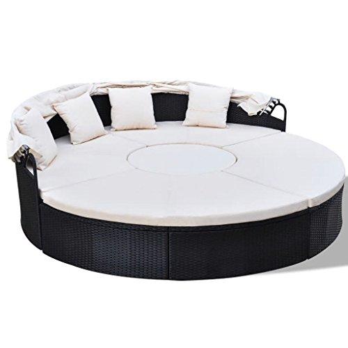 Tidyard Conjunto de sillones de Aluminio y ratán sintético con un Techo...