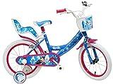 Disney Frozen Ice Look, Bicicleta para niña, Azul, Blanco, Fucsia, 16 Pulgadas