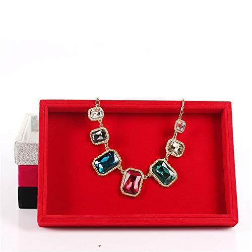 Chlyuan-hm Schmuckvitrine Vitrine 2 Teile/Paket Schmuck Display Tabletts Stapelbar Halskette Armband Ring Schaufenster Display Leere Platte für Halskette Armband Ring Ohrring