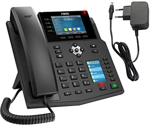 Großes IP Telefon als Set mit Netzteil Adapter, Verwendung an der FritzBox, Integrierter Konferenzlautsprecher, deutschsprachige Anleitung