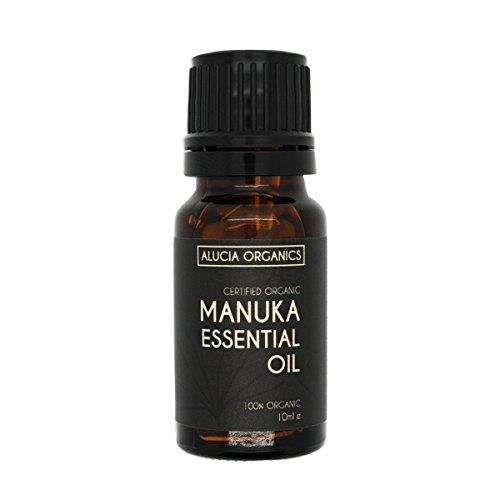 Huile essentielle de manuka certifiée bio de Alucia Organics 10ml