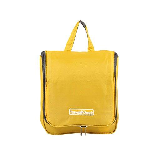 Tumecos impermeabile Beauty case da viaggio, da appendere di colore azzurro-Organizer per borsa da barba Arancione arancione