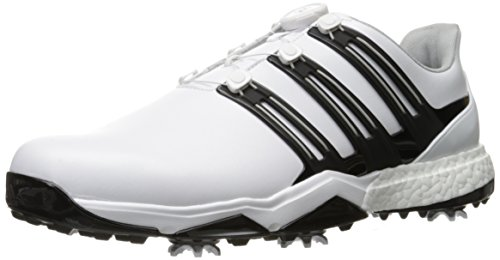 Adidas Powerband BOA Boost Golf Shoe, White, 9.5 M US
