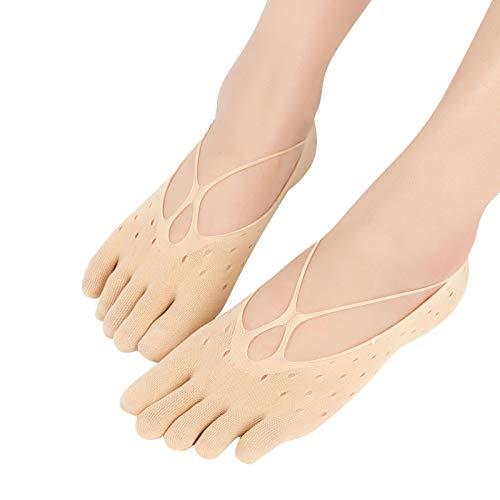 Calcetines ortopédicos de compresión para mujer -antideslizantes invisibles de corte bajo para mujer,alivia el dolor de pie, corrige las deformaciones de los pies (E)