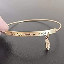 Like Two Peas in a Pod Bracelet Friendship Jewelry Best Friend Birthday Gift Valentine's Day Present