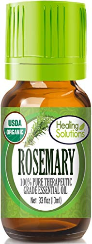 Organic Rosemary Essential Oil (100% Pure - USDA Certified Organic) Best Therapeutic Grade Essential Oil - 10ml