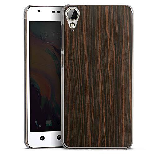 Hard Hülle kompatibel mit HTC Desire 10 Lifestyle Schutzhülle transparent Smartphone Backcover Holz Makassar Holzoptik