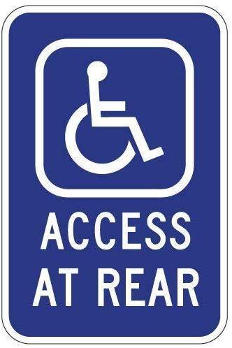 TammieLove Handicapped - Señales para Acceso de Silla de Ruedas en la Parte Trasera para Exterior e Interior, 20 x 30 cm