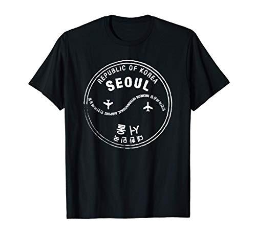 Seoul-Südkorea Reisepass-Stempel T-Shirt